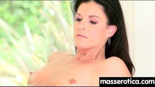 Sensual lesbian massage leads to orgasm